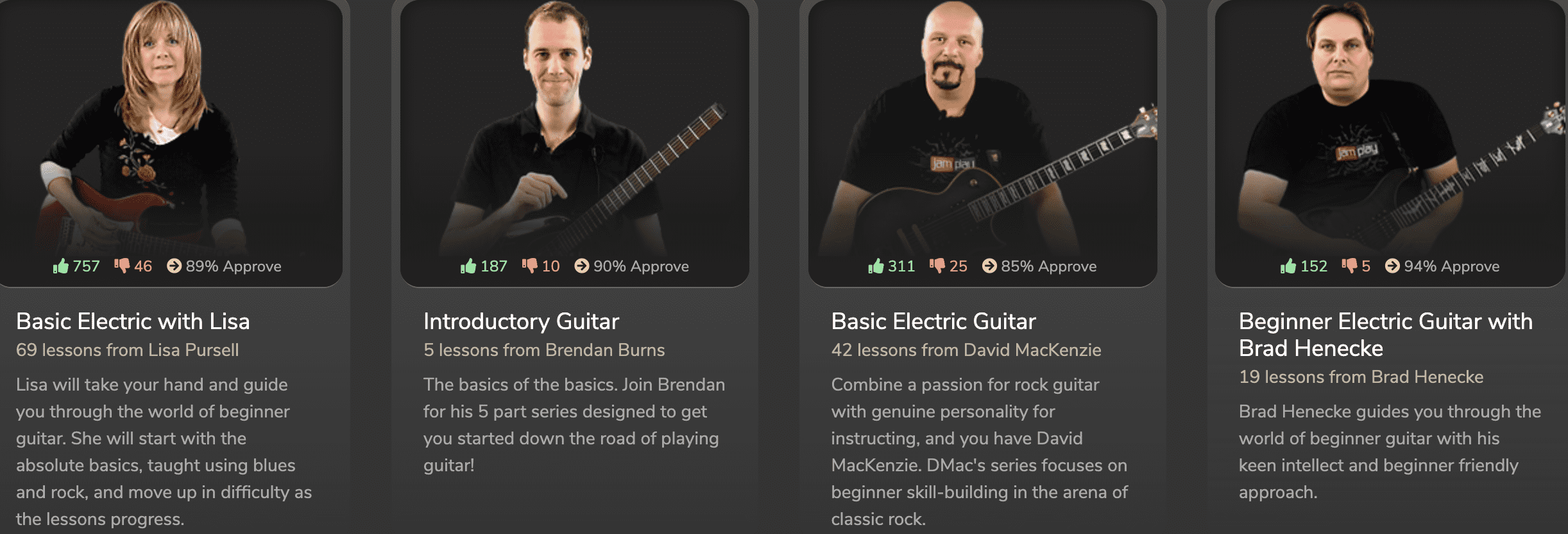 Jamplay beginner electric courses