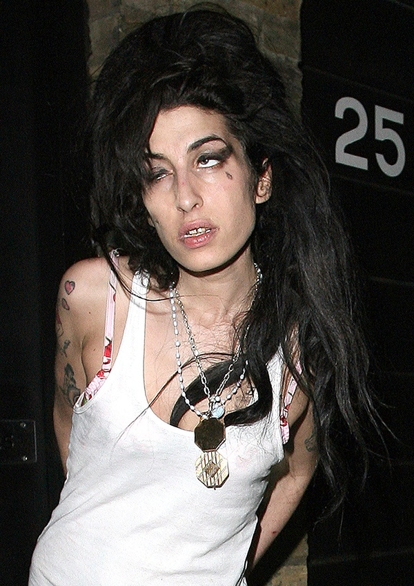 Amy Winehouse wasted