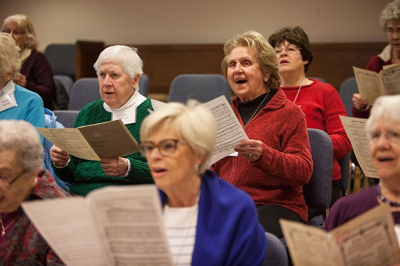 Older female choir group