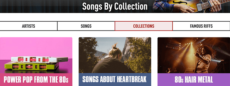 Guitartricks song collections